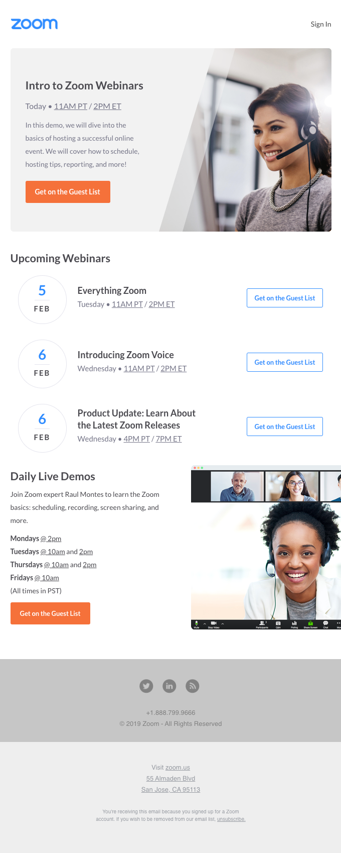 [Live Today] Intro to Zoom Webinars
