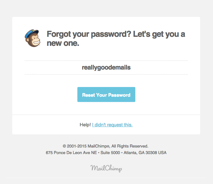 MailChimp Reset Password