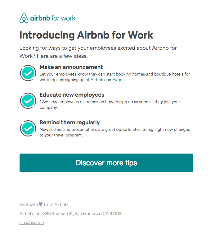 Make employees happier with Airbnb for Work
