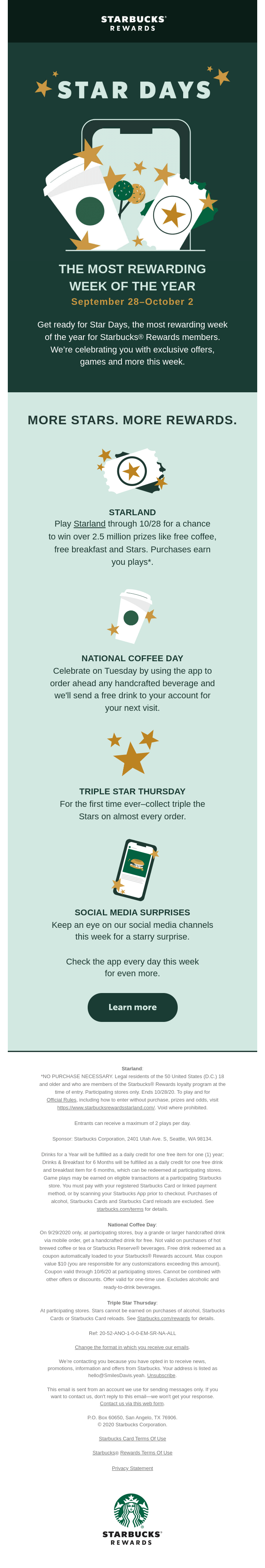 Mark your calendars for Star Days