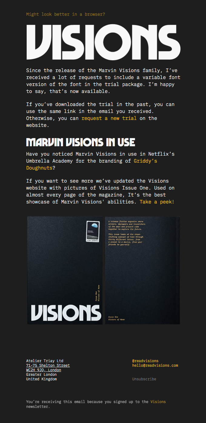 Marvin Visions Variable Font Trial