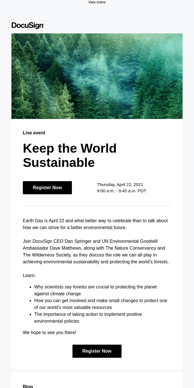 Smiles Davis, you're invited: Join us on Earth Day