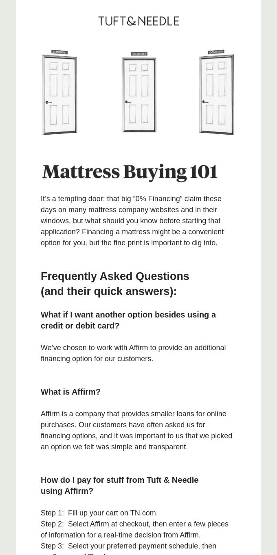 Mattress Buying - Explained