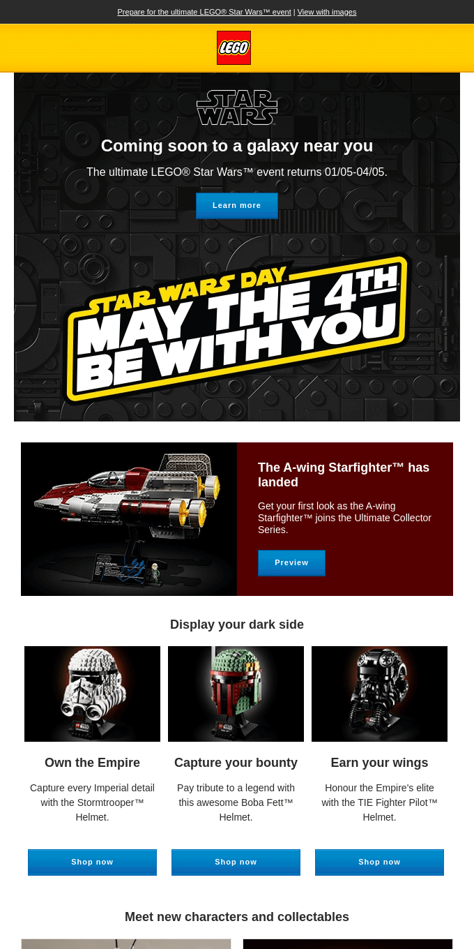 May the 4th is coming