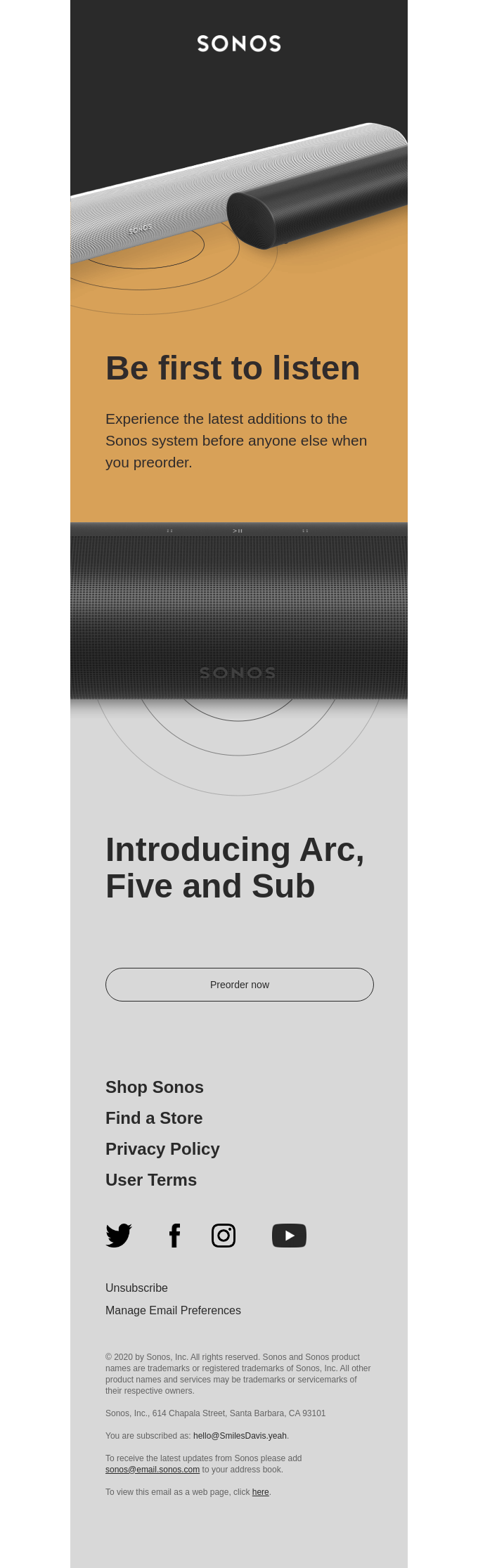 Meet Arc, Five and Sub