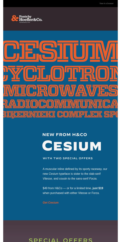 Meet CESIUM, the new slab serif