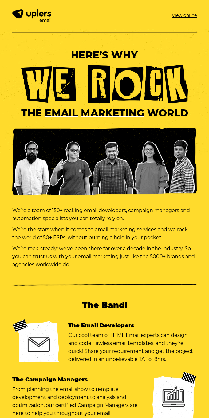 Meet our rockstar email experts