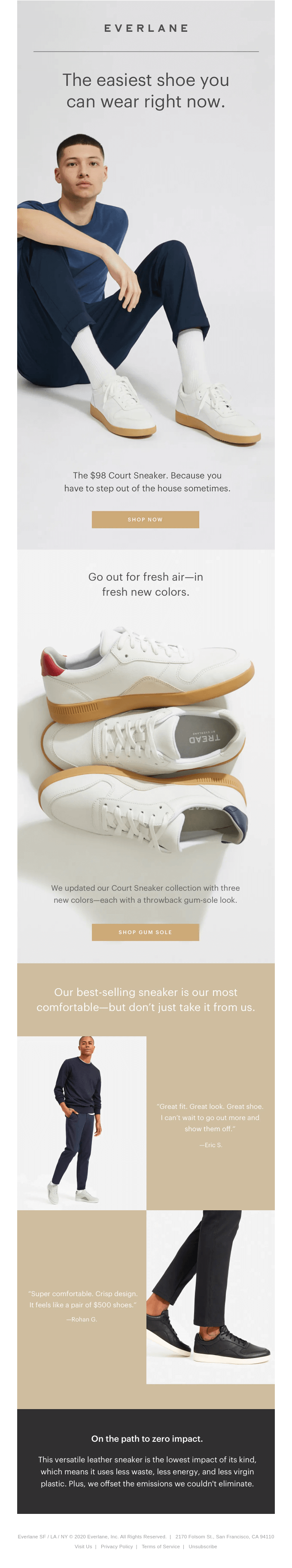 Meet our updated Court Sneaker.