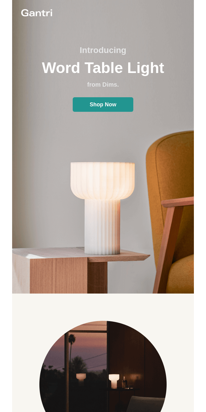 Meet Word Table Light from Dims.