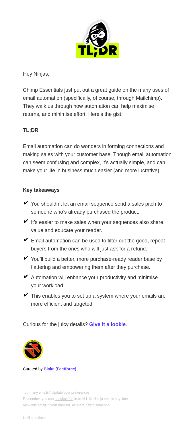 Minimise your efforts with email automations