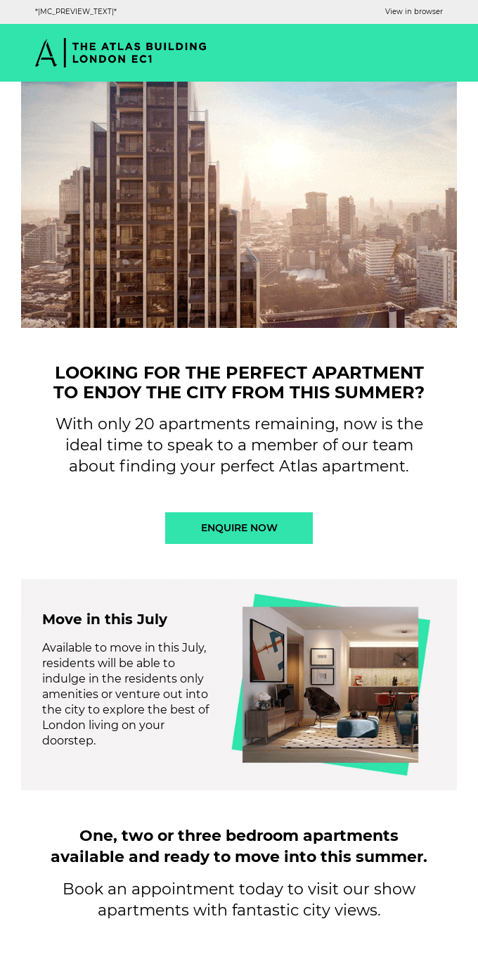 Move into The Atlas Building this summer! ☀