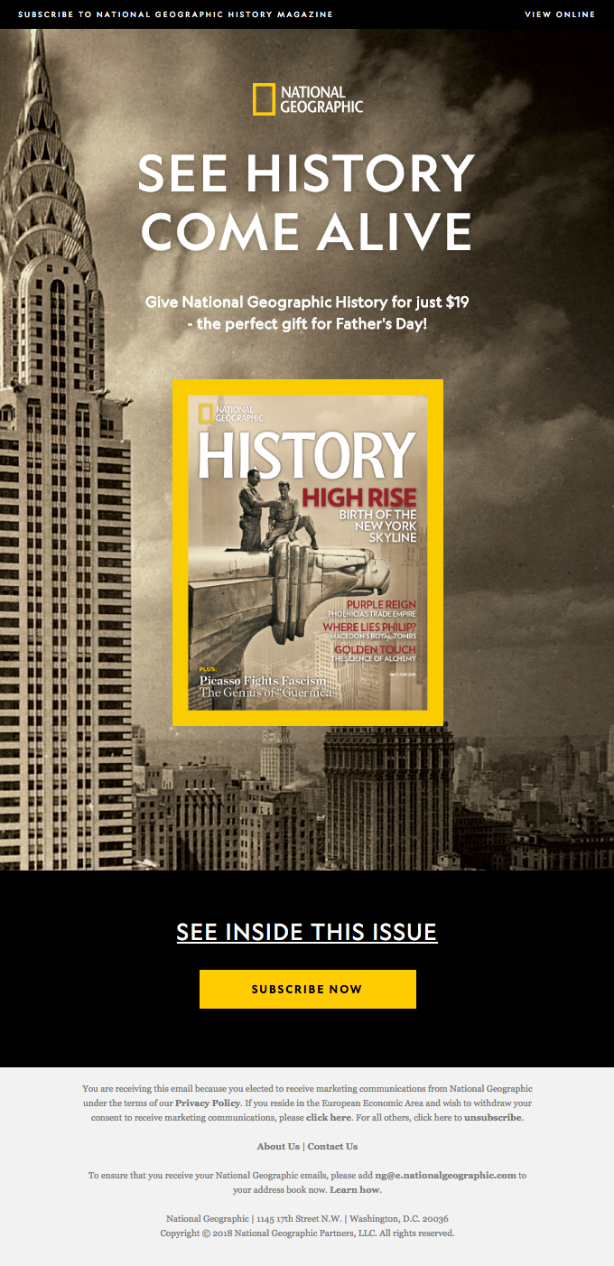 Nat Geo History: The Perfect Gift for Dad