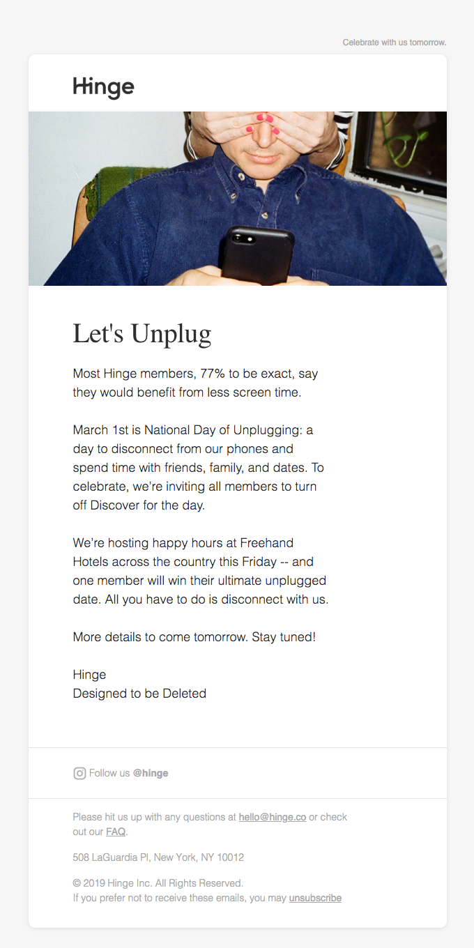 National Day of Unplugging is almost here
