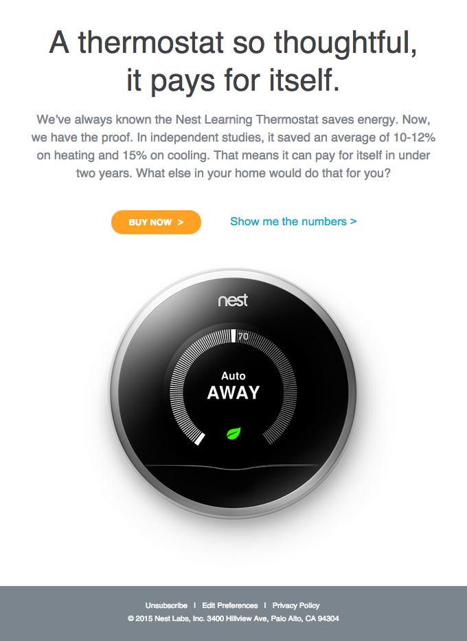 Nest saves energy. Period.