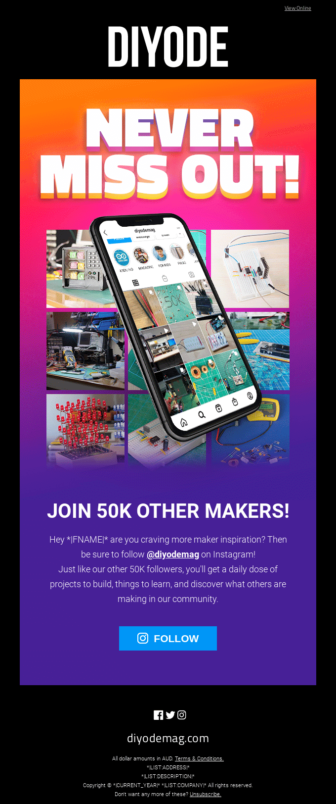 Never Miss Out! Join 50K Other Makers on Instagram!