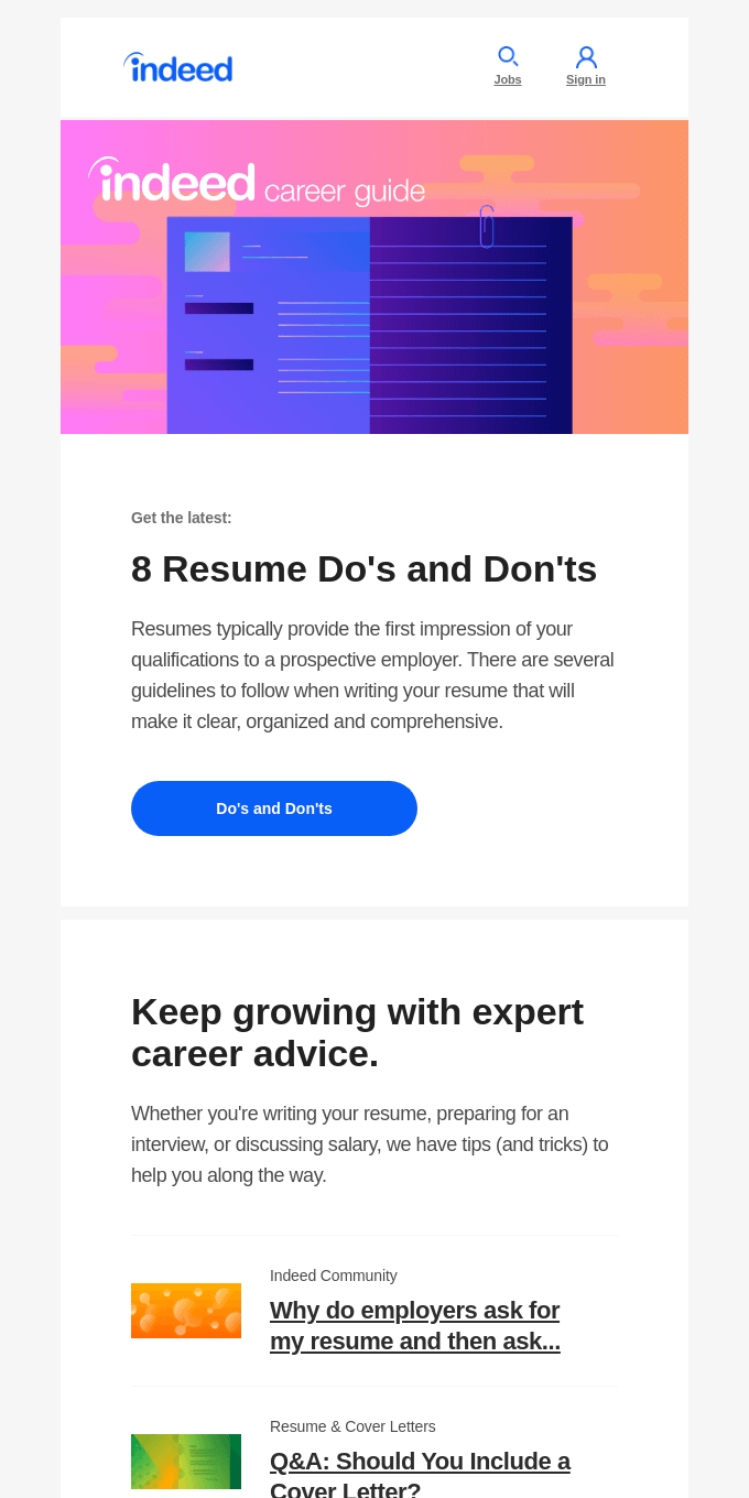 NEW: 8 Resume Do's and Don'ts