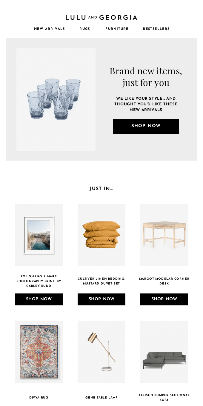 New arrivals, just for you