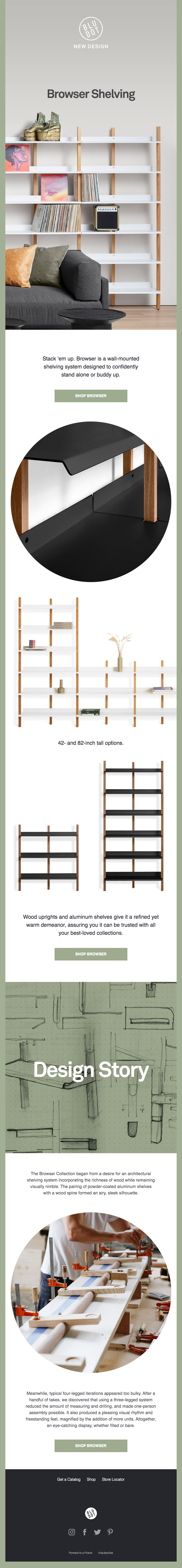 New Design | Browser Shelving
