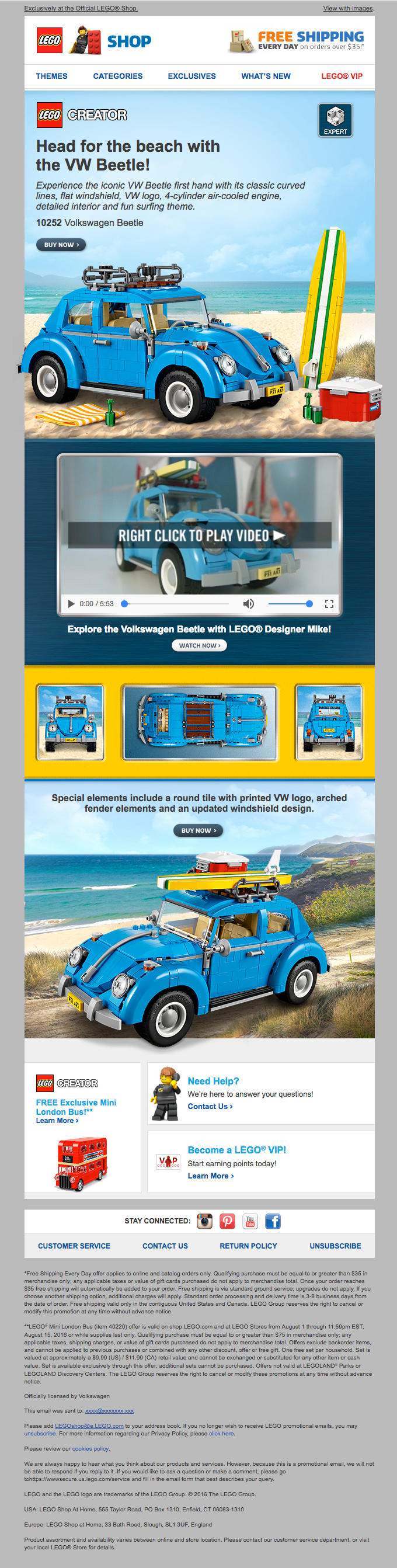 New Exclusive LEGO® Creator Volkswagen Beetle now available!