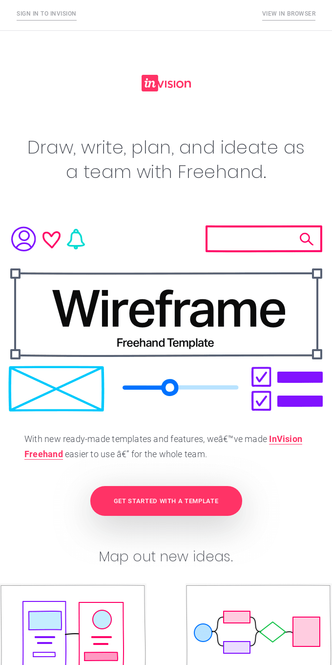 New for Freehand: Templates for brainstorms, wireframes, and more
