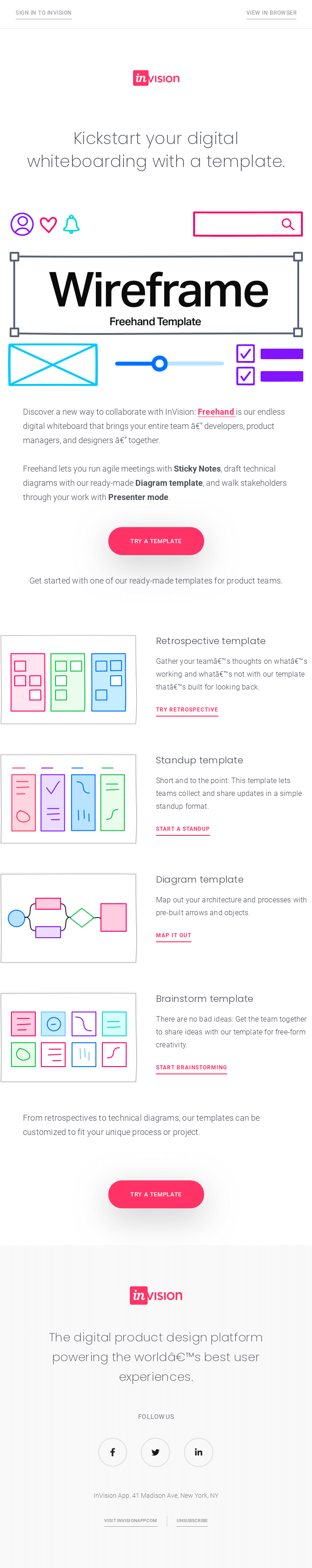 New for Freehand: Templates for retrospectives, standups and more