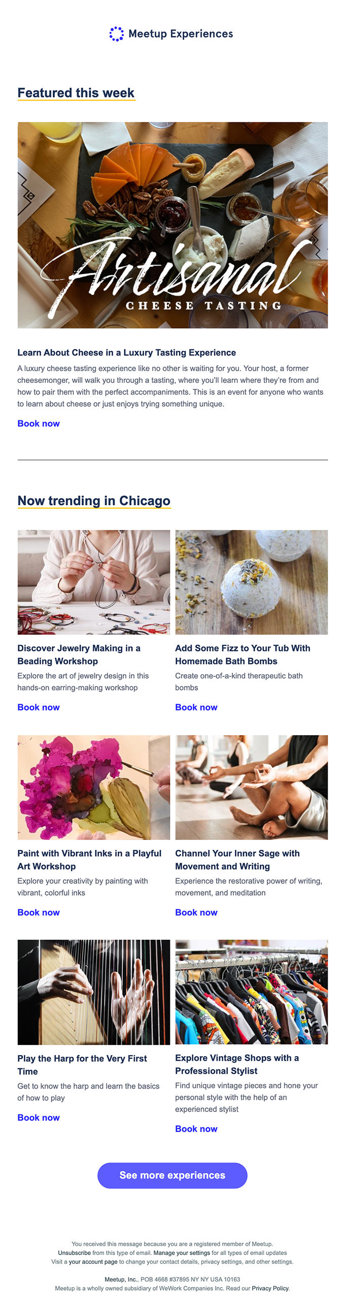 New in Chicago: Cheese, jewelry making, bath bombs