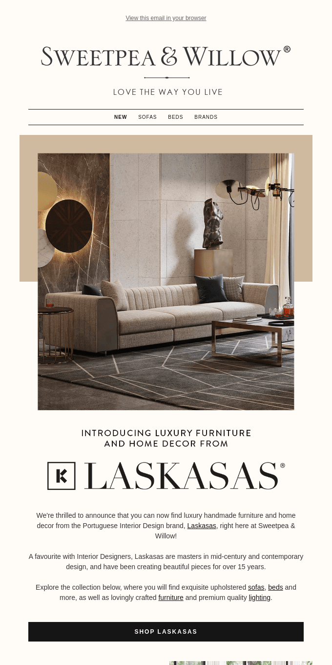NEW - Introducing Furniture and Accessories From Laskasas!