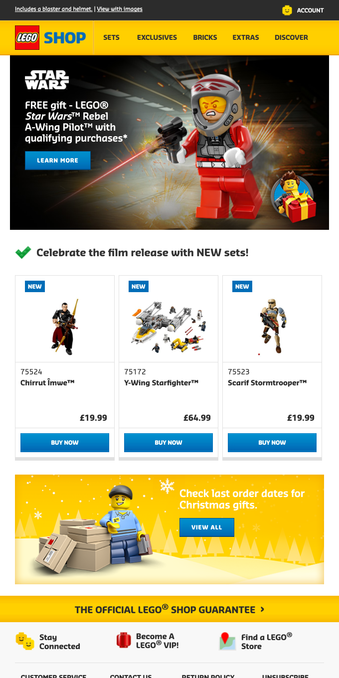 NEW LEGO® Star Wars™ sets and a free GIFT!