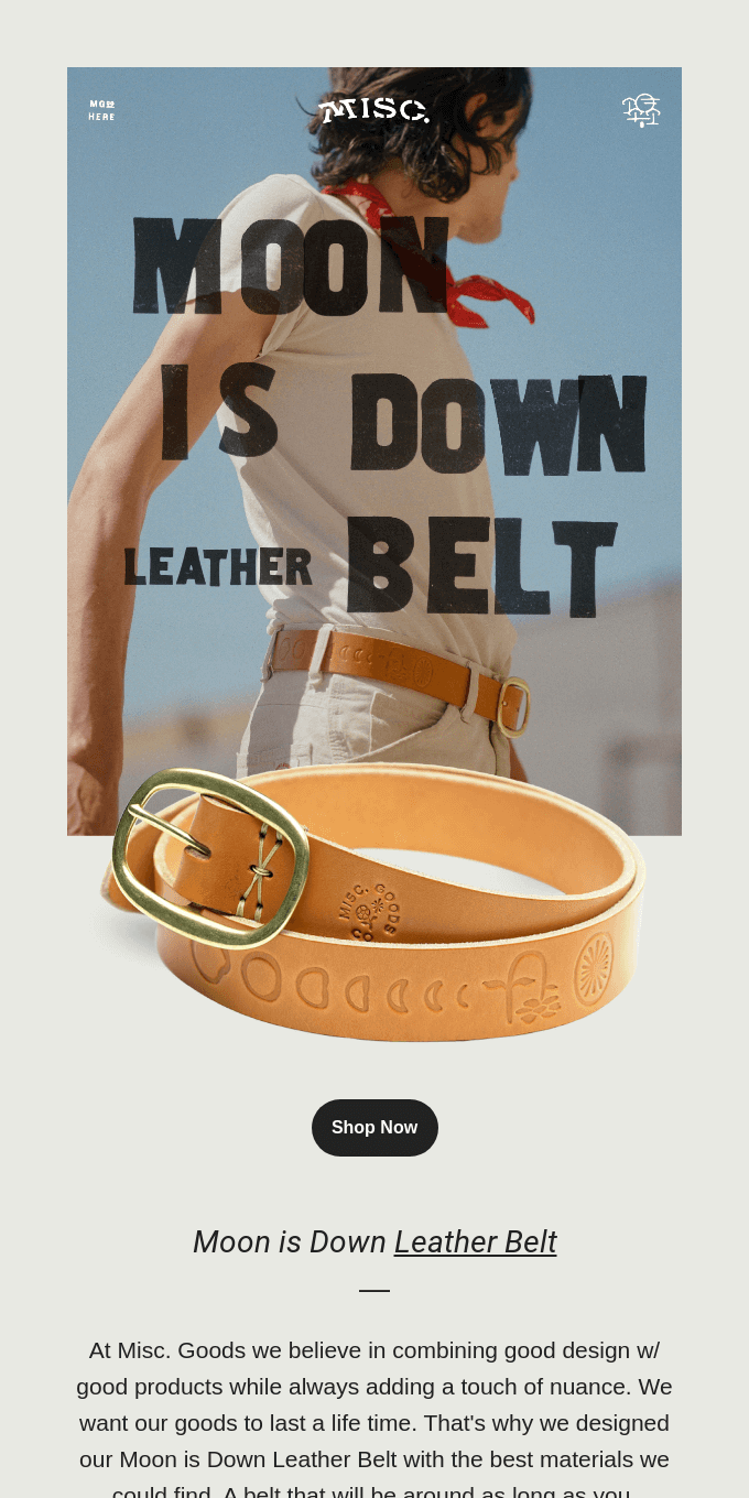 New Product: Moon is Down 💥 Leather Belt 💥