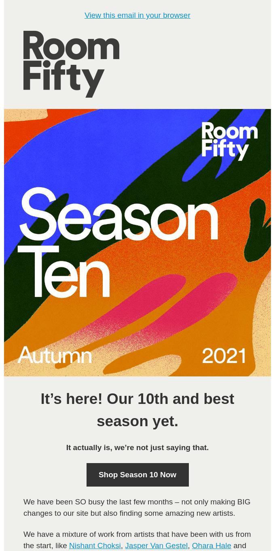 NEW! Season 10 – 10% off until Thursday
