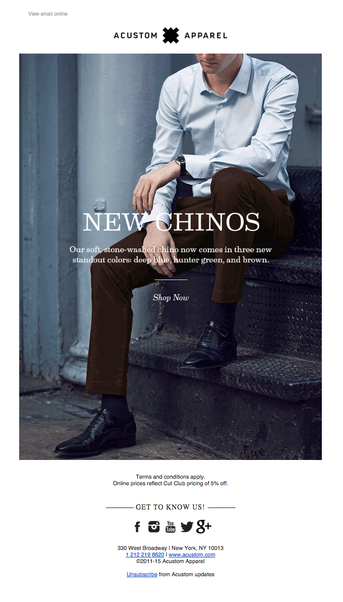 New Spring/Summer 2015 Chinos