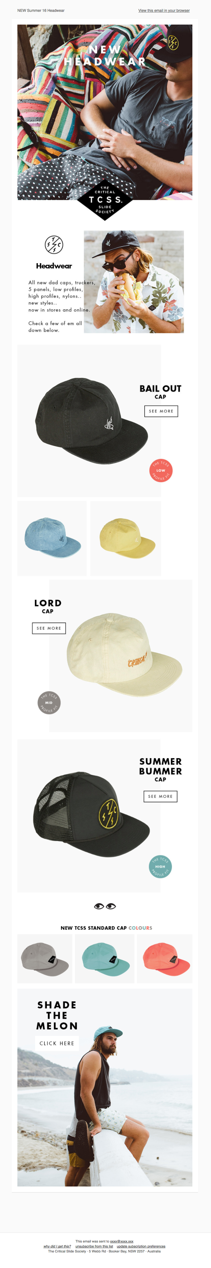 NEW Summer 16 Headwear
