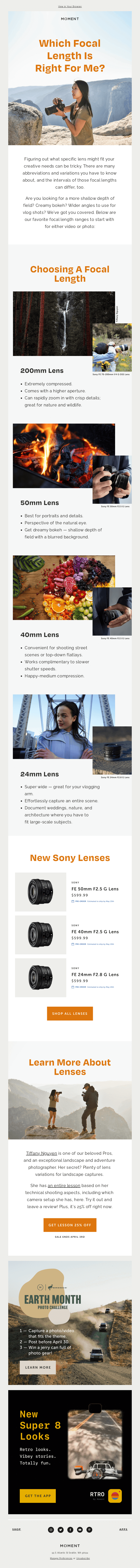 New to using a big camera? Think about your lens, too.