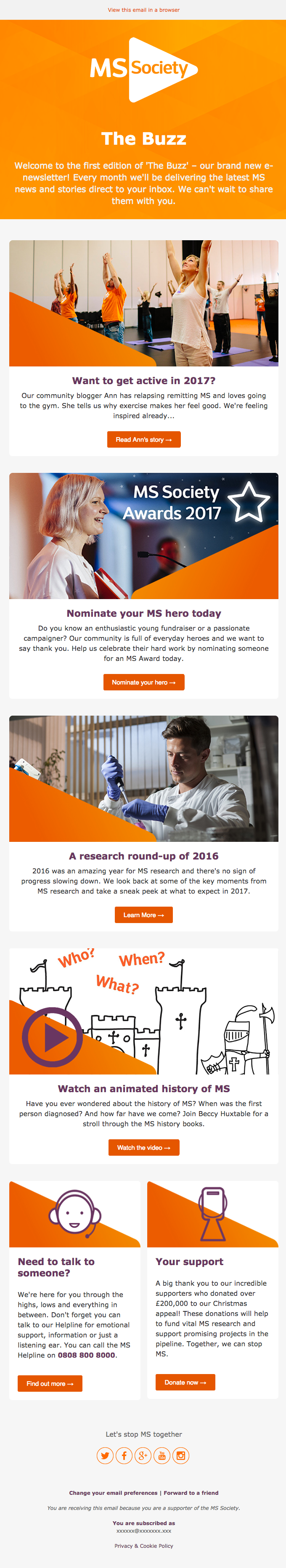 New year, new newsletter – introducing The Buzz from the MS Society