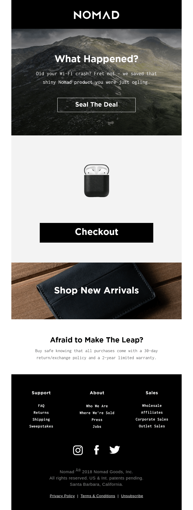 Nomad Gear is Selling Out Quick
