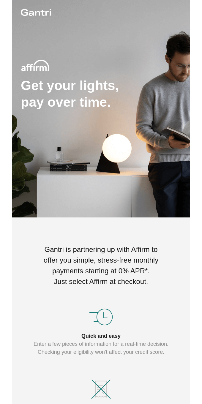 Now accepting pay monthly with Affirm