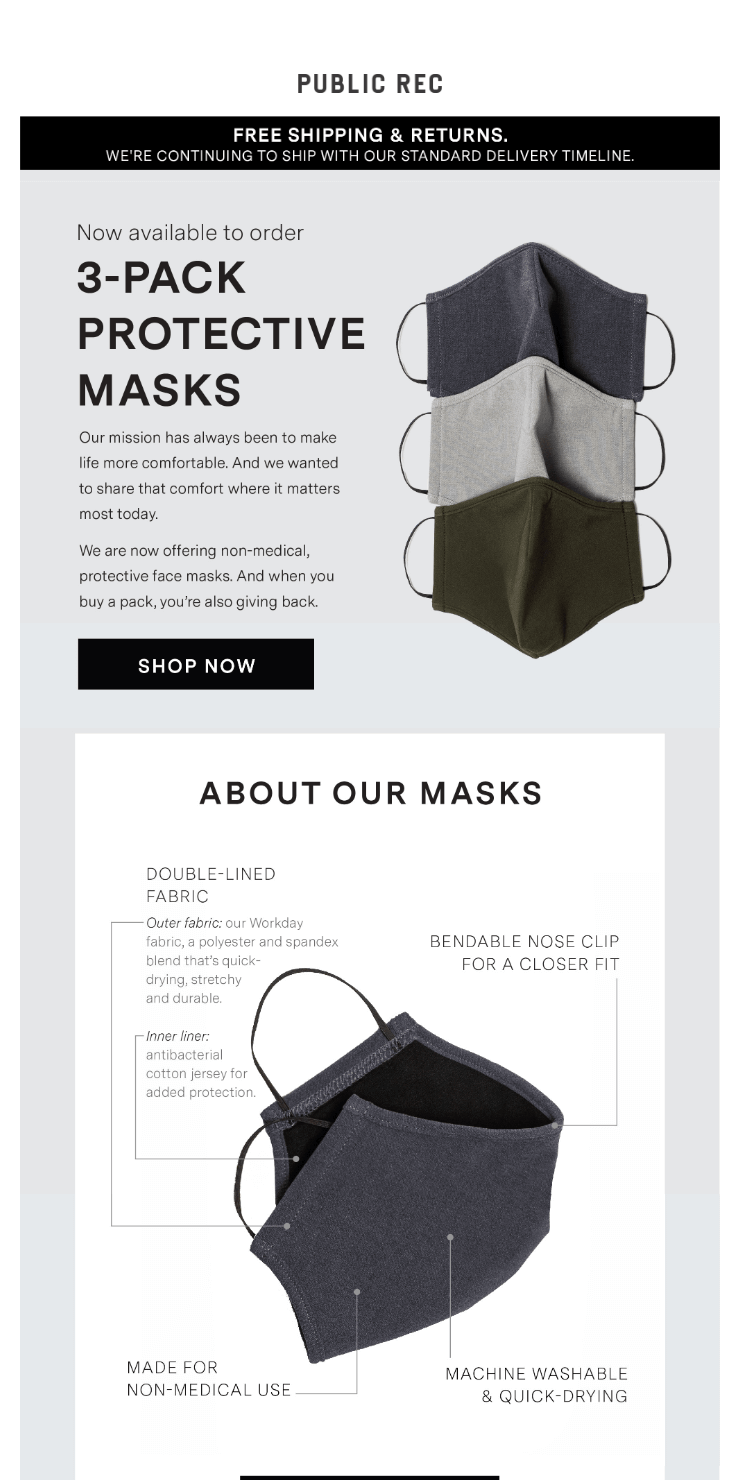 Now Available, Protective Face Masks