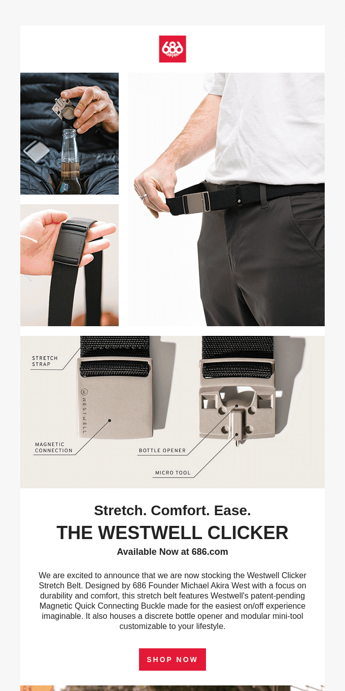 Now Stocking the Westwell Clicker Stretch Belt