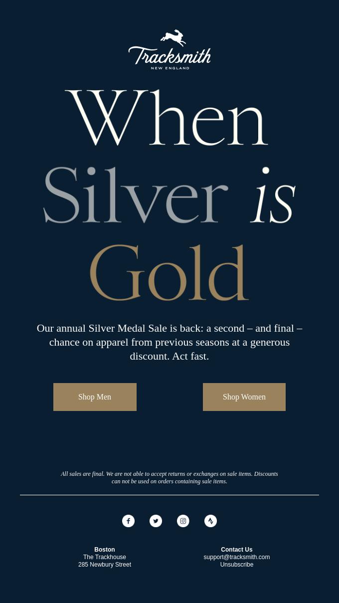 On Your Marks, Get Set, Silver Medal Sale