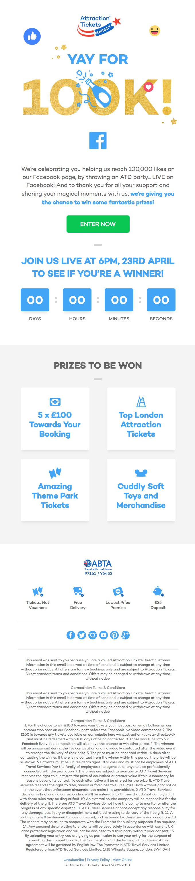 One day to go… will you WIN a prize?