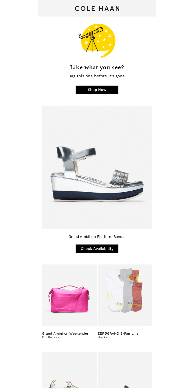 Open to see the styles curated for you
