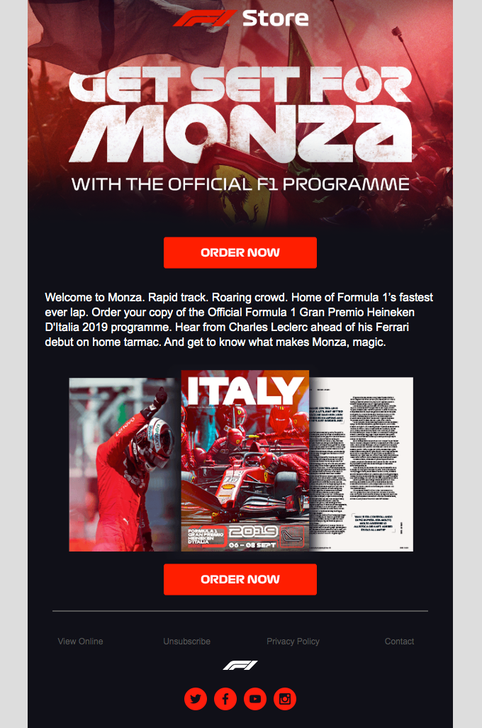 Order the Official Italian GP programme now