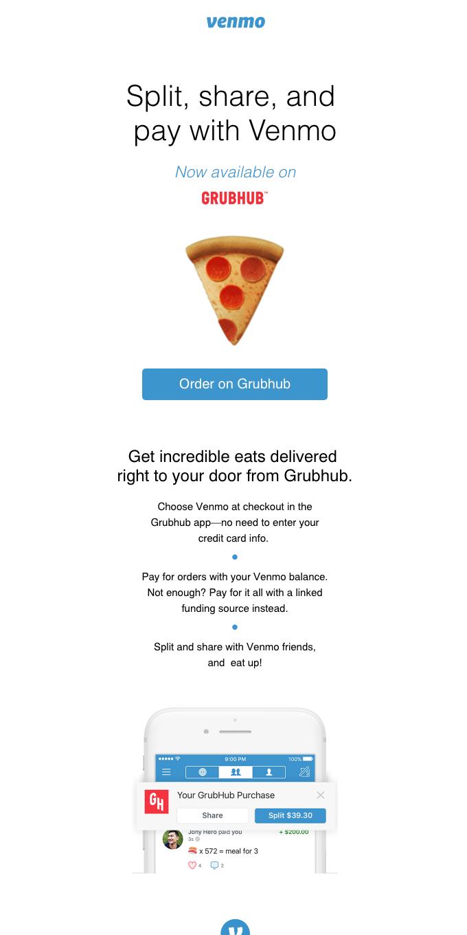 Ordering on Grubhub? Now you can pay with Venmo!