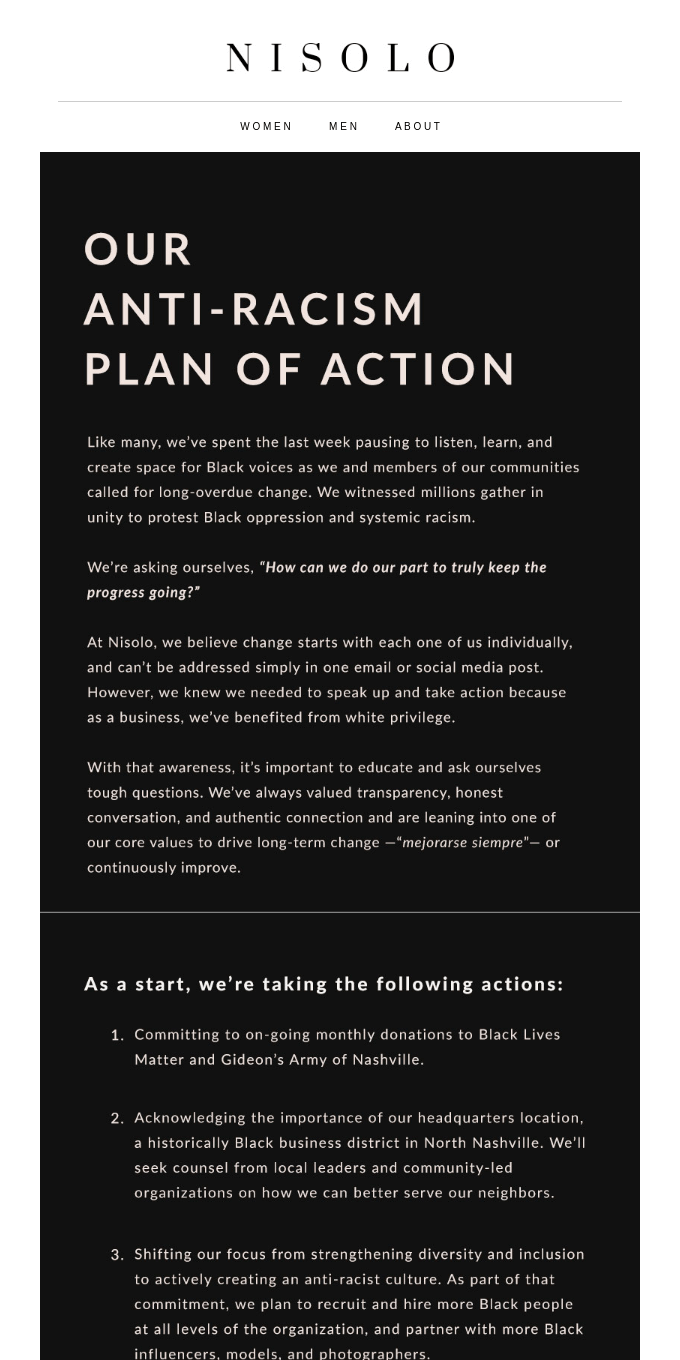 Our Anti-Racism Plan of Action