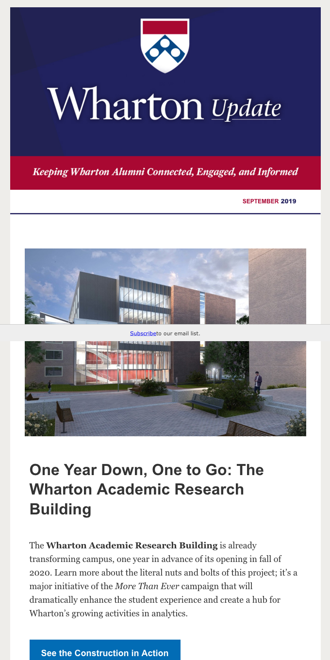 Our changing campus, management tips, events around the world