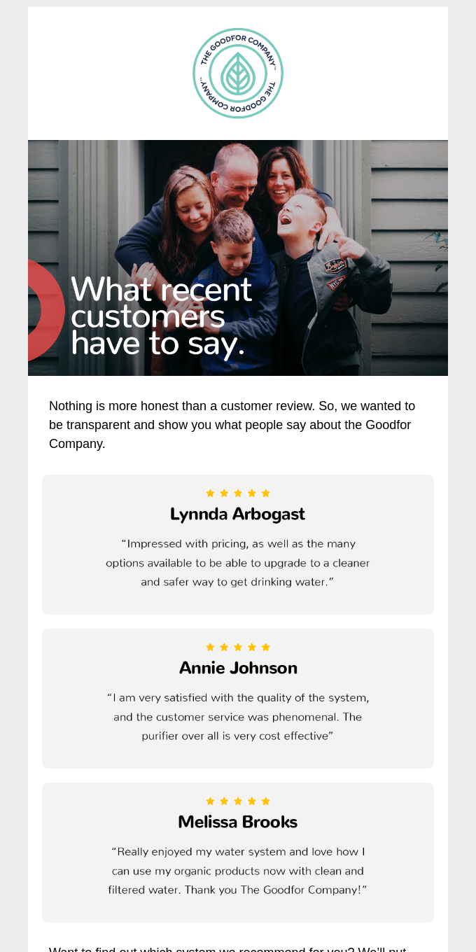 Our customers are thrilled.