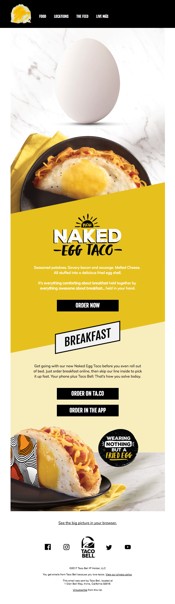 Taco Bell Emails on Really Good Emails