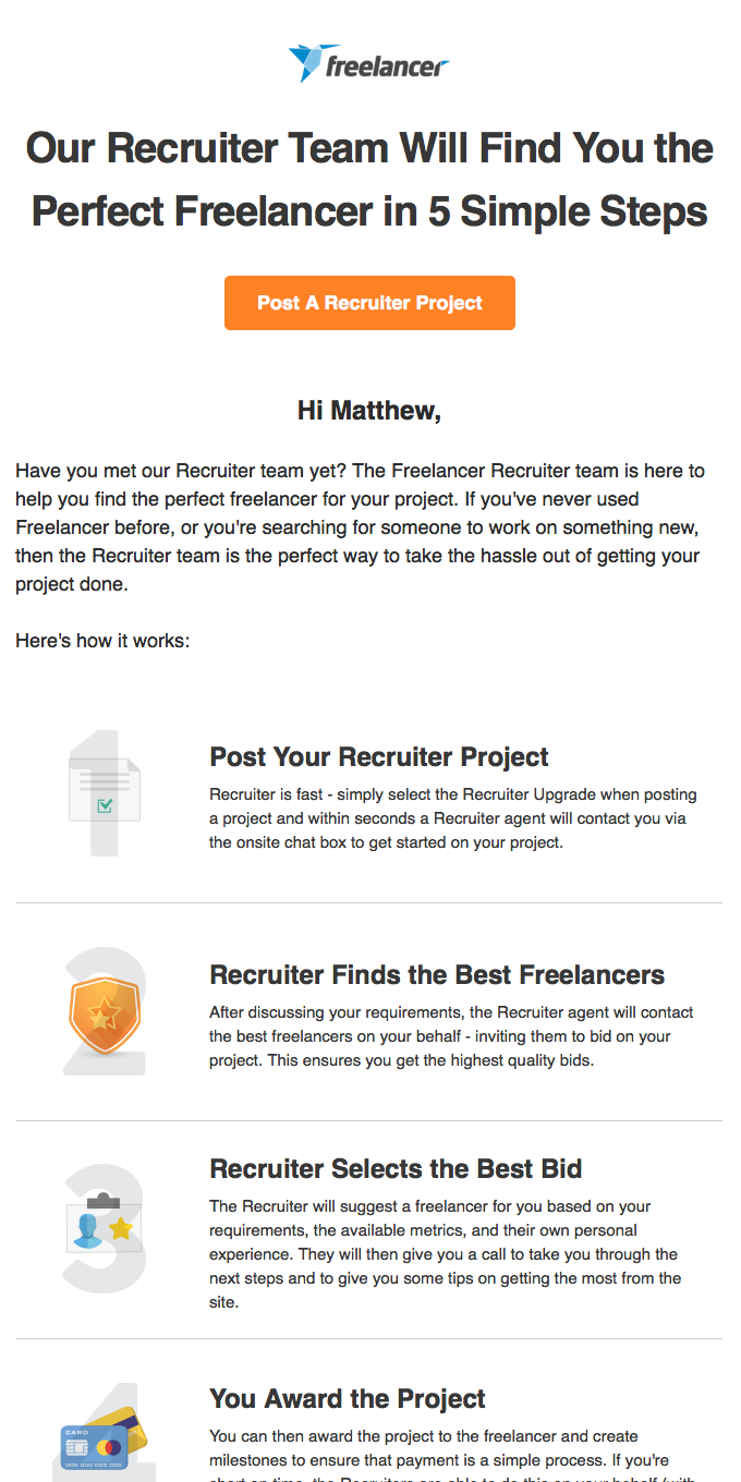 Our Recruiter team is keen to hear from you, Matthew