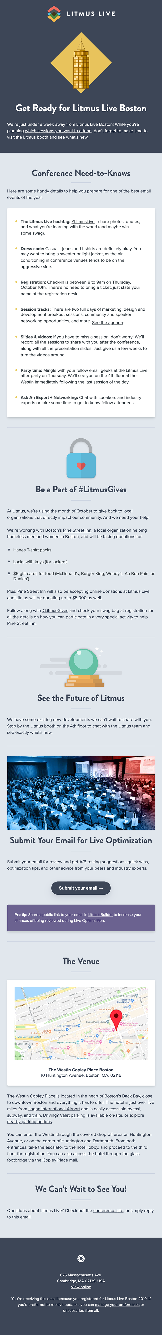 Pack your bags for Litmus Live Boston