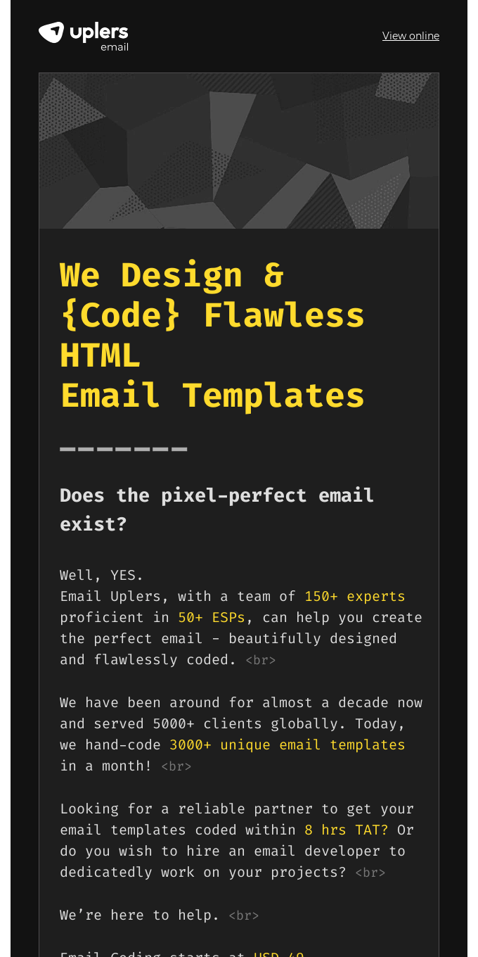 Perfect email templates are now a reality